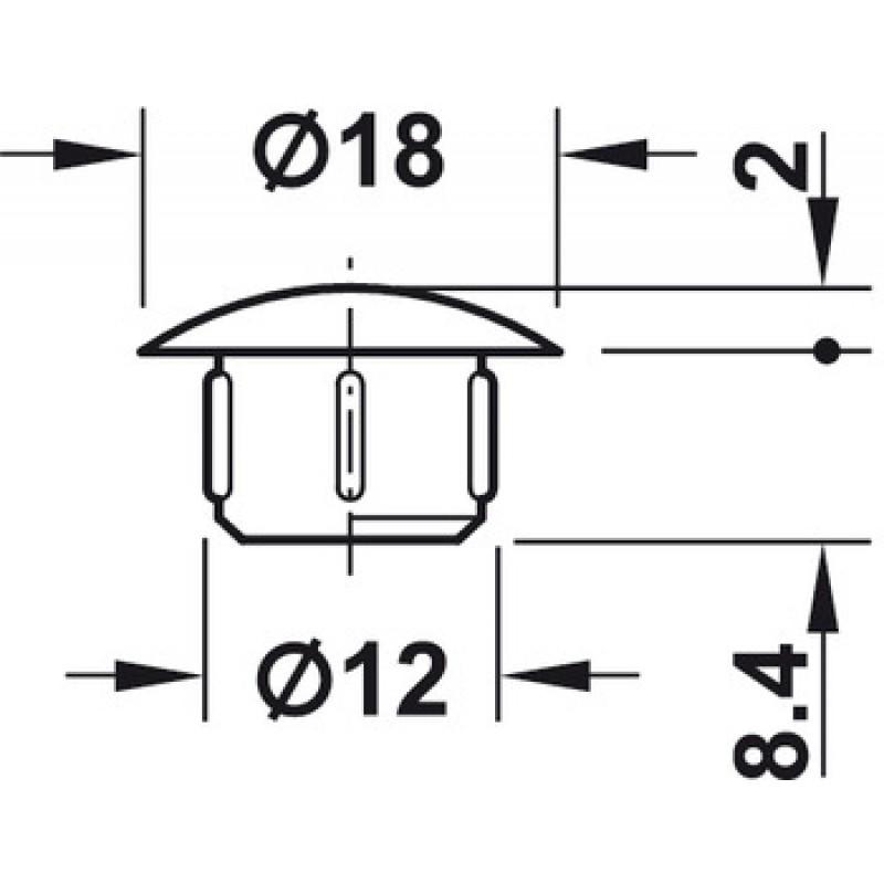 ČEP PVC  FI 12 BIJELI