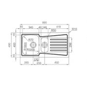 Sudoper RODI Evolution 100b 9900x490mm sa sifonom
