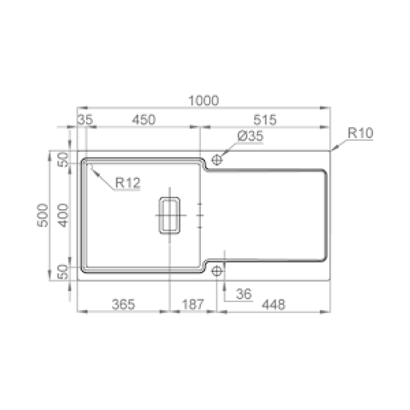 Sudoper RODI Evo105 990x490mm sa sifonom