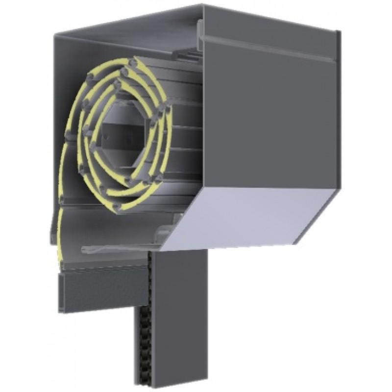 Aluminijska kutija 165 mm bijela donja